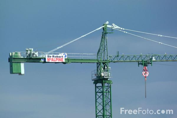 Picture of Tower Crane - Free Pictures - FreeFoto.com