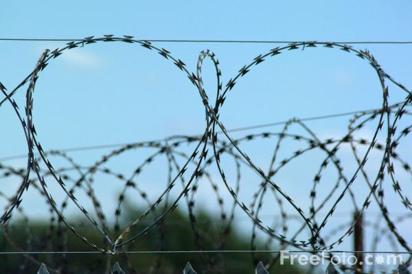 Picture of Razor wire fence - Free Pictures - FreeFoto.com
