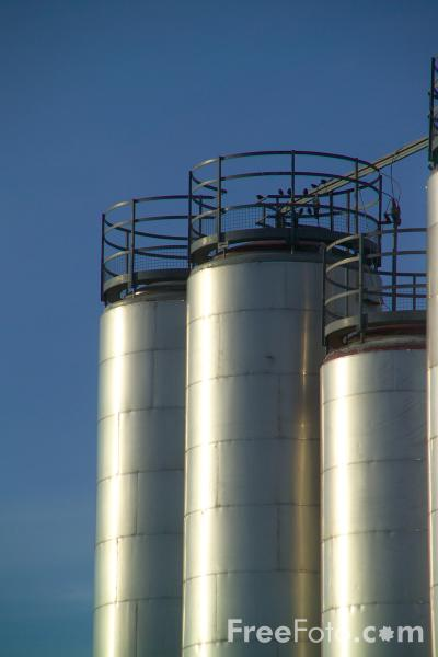 Picture of Storage Tanks - Free Pictures - FreeFoto.com