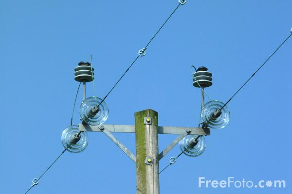 Picture of Power Lines, Northumberland - Free Pictures - FreeFoto.com