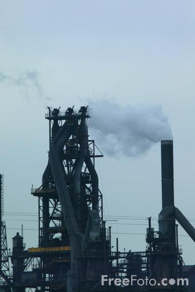 Picture of Steel Works, Scunthorpe - Free Pictures - FreeFoto.com