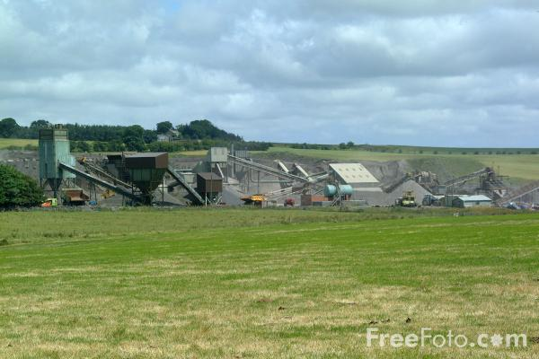 Picture of Quarry, Ingoe, Northumberlnad - Free Pictures - FreeFoto.com
