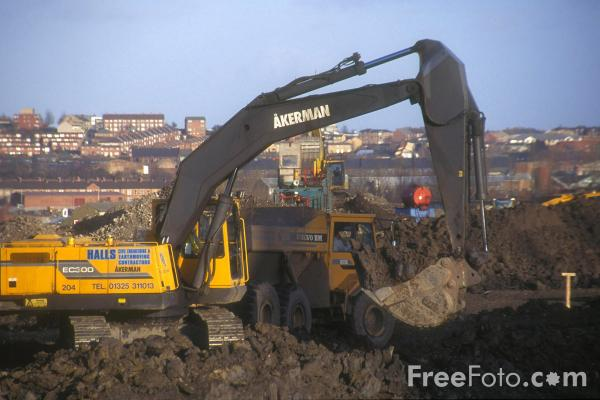 Picture of Construction Site, Gateshead - Free Pictures - FreeFoto.com