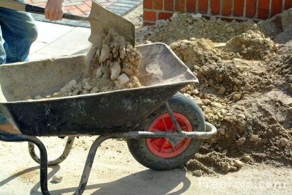 Picture of Wheel Barrow - Free Pictures - FreeFoto.com