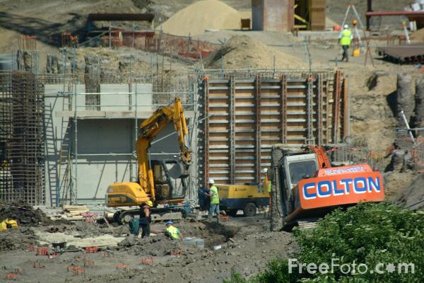 Picture of Construction Site, Gateshead, Tyne - Free Pictures - FreeFoto.com