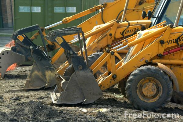 Picture of JCB Sitemaster digger - Free Pictures - FreeFoto.com