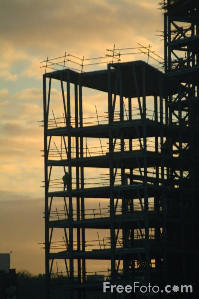 Picture of Building Under Construction, Gateshead, Tyne - Free Pictures - FreeFoto.com