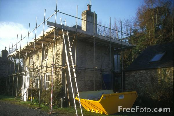 Picture of Scaffolding, St Germans, Cornwall - Free Pictures - FreeFoto.com