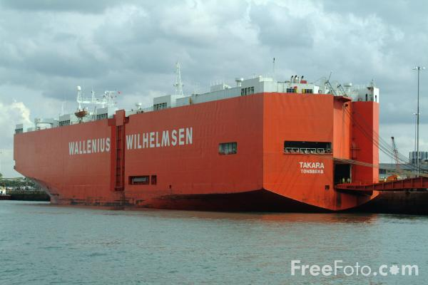 Picture of Wallenius Wilhelmsen Lines Americas roll-on/roll-off ship Takara, Port of Southampton - Free Pictures - FreeFoto.com