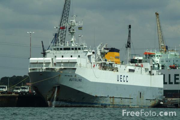 Picture of UECC Car Carrier Vessel Autoline, Port of Southampton - Free Pictures - FreeFoto.com