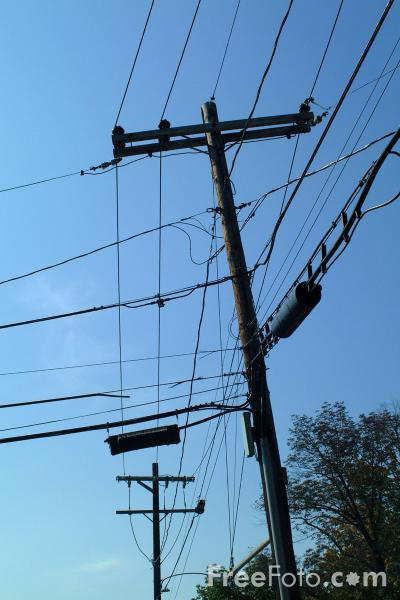 Picture of Utility Pole - Free Pictures - FreeFoto.com