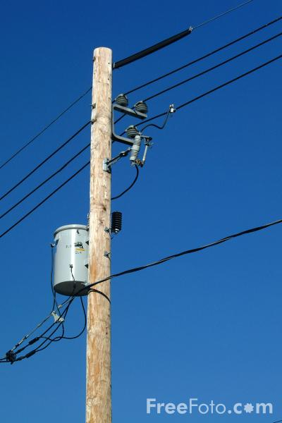 Electricity Transformer Mounted On A Utility Pole Pictures