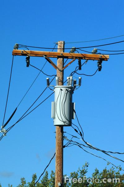 Electricity Transformer mounted on a Utility Pole pictures ...