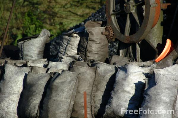 Picture of Bags of Coal - Free Pictures - FreeFoto.com