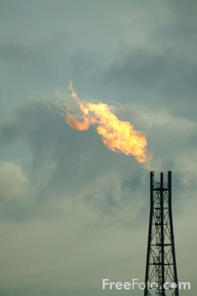 Picture of Gas Flare - Free Pictures - FreeFoto.com