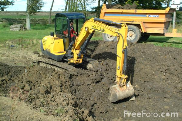 Picture of Case Mini Excavator - Free Pictures - FreeFoto.com