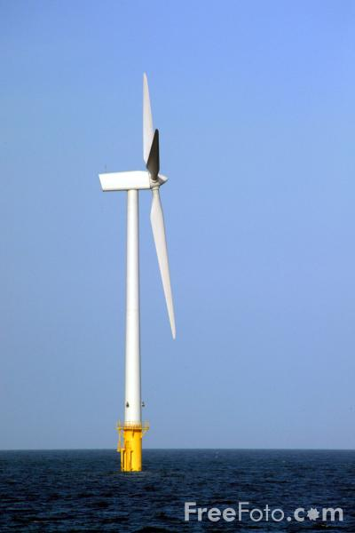 Picture of Blyth Offshore Wind Farm, Blyth, Northumberland - Free Pictures - FreeFoto.com