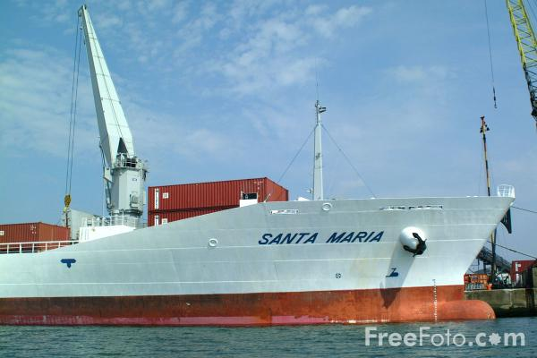 Picture of m.v. Santa Maria, Windward Terminal, Southampton Docks - Free Pictures - FreeFoto.com