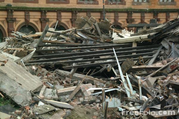 Picture of Building Demolition, Gateshead, Tyne - Free Pictures - FreeFoto.com