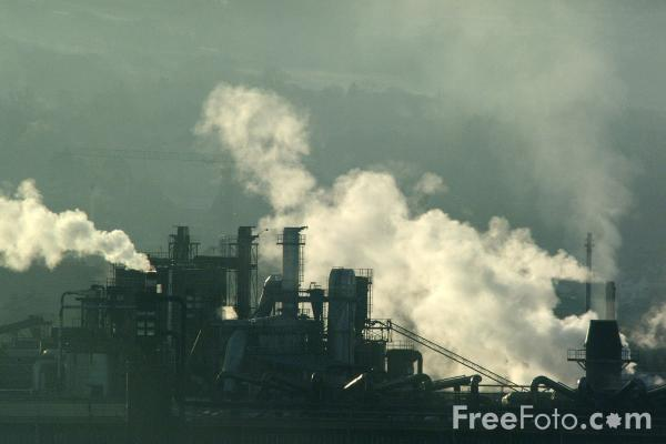 Picture of Drifting Steam, Chipboard Factory, Hexham - Free Pictures - FreeFoto.com