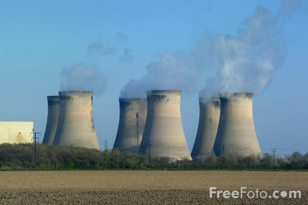of Cooling Towers, Drax Power Station, North Yorkshire. Each cooling ...