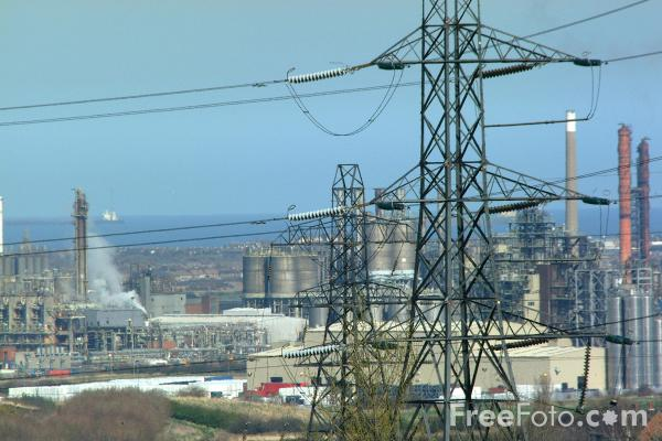 Picture of Wilton International petrochemicals complex - Free Pictures - FreeFoto.com