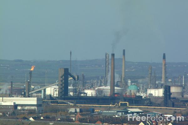 Picture of Industrial Skyline, South Bank, Middlesbrough - Free Pictures - FreeFoto.com