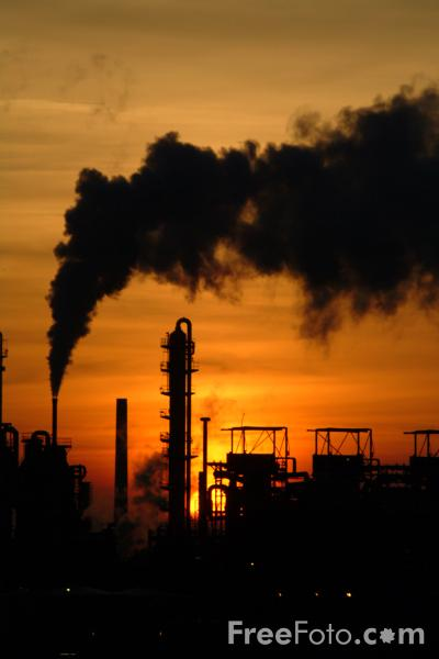 Picture of Sunset, Teesside Industry - Free Pictures - FreeFoto.com