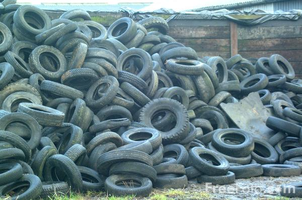 Picture of Dumped Auto Tires - Car Tyres - Free Pictures - FreeFoto.com
