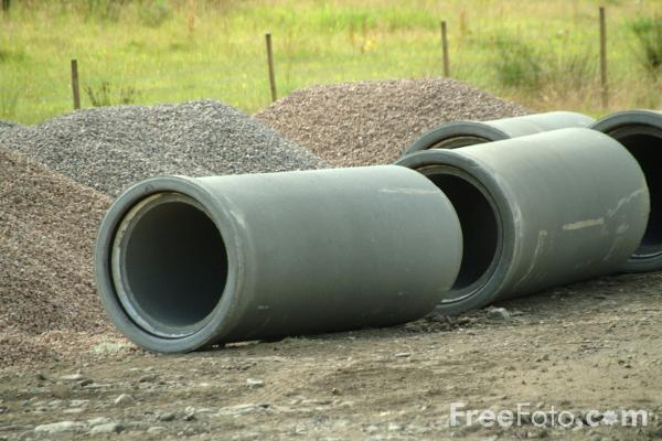 Picture of Concrete Pipes - Free Pictures - FreeFoto.com