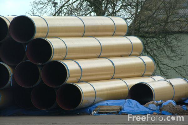 Picture of Metal Pipes - Free Pictures - FreeFoto.com