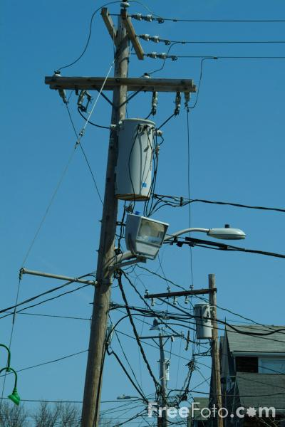 Picture of Power Lines, America - Free Pictures - FreeFoto.com
