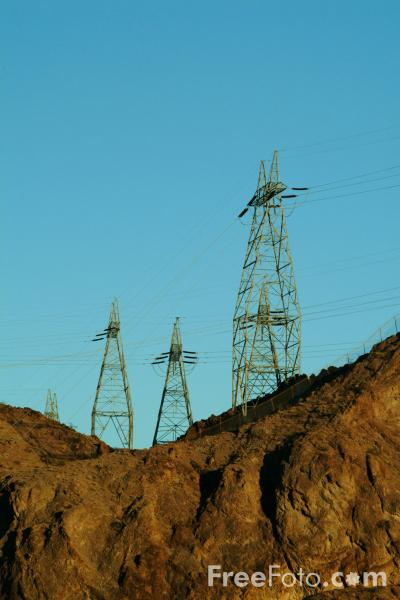 Picture of High Voltage Power Lines - Free Pictures - FreeFoto.com