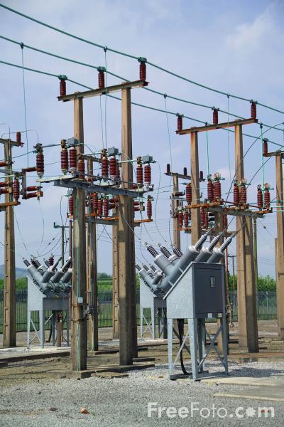 Picture of Electricity Substation - Free Pictures - FreeFoto.com