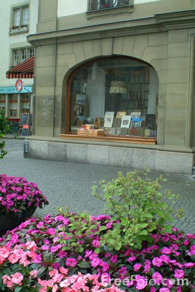 Picture of Bookshop, Rathausplatz, Bern, Switzerland - Free Pictures - FreeFoto.com
