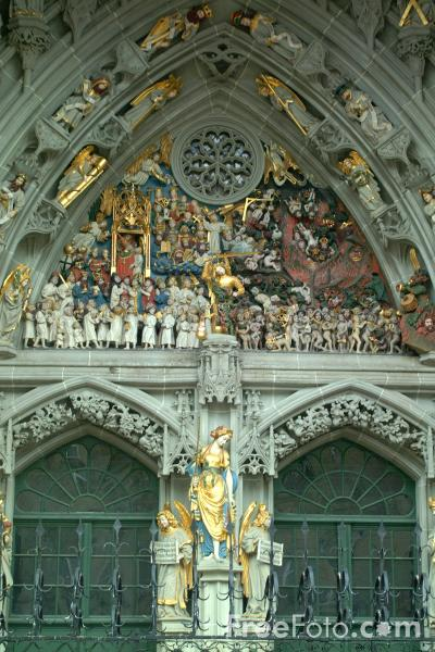 Picture of Last Judgement - late-Gothic sculpture, Munster, Bern, Switzerland - Free Pictures - FreeFoto.com