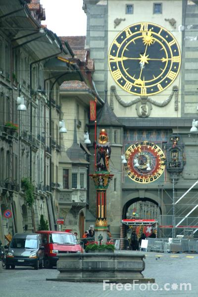 Picture of The Zytglogge Aastronomical Clock, Bern, Switzerland - Free Pictures - FreeFoto.com