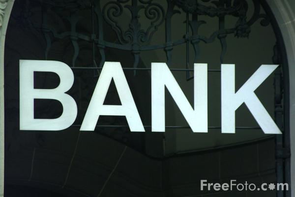 Picture of Bank Sign, Bern, Switzerland - Free Pictures - FreeFoto.com