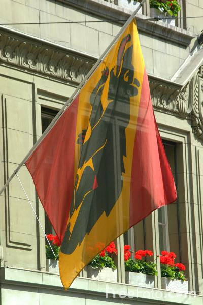 Picture of Cantonal flag of Bern, Switzerland - Free Pictures - FreeFoto.com