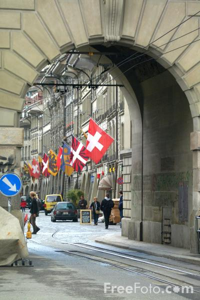 Picture of Flags, Bern, Switzerland - Free Pictures - FreeFoto.com