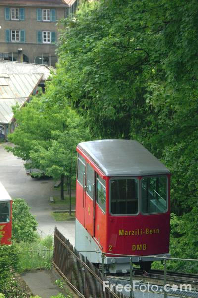 Picture of DMB - Drahtseilbahn Marzili - Stadt Bern Funicular, Bern, Switzerland - Free Pictures - FreeFoto.com