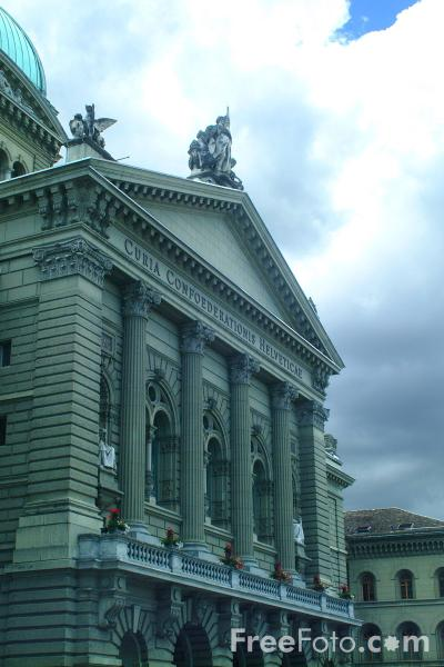 Picture of Bundeshaus - Federal Assembly Building, Bern, Switzerland - Free Pictures - FreeFoto.com