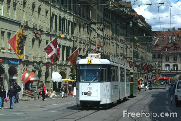 Picture of Trams, Bern, Switzerland - Free Pictures - FreeFoto.com