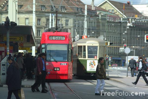 Picture of Low Floor Tram, Line 3, Bern, Switzerland - Free Pictures - FreeFoto.com
