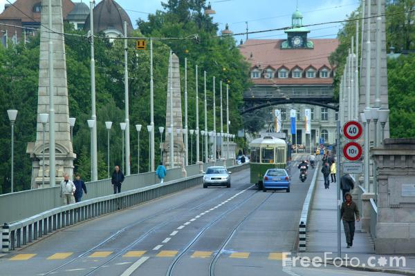 Picture of Tram, Line 9, Bern, Switzerland - Free Pictures - FreeFoto.com