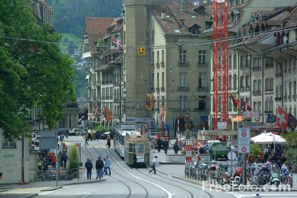 Picture of Tram, Bern, Switzerland - Free Pictures - FreeFoto.com