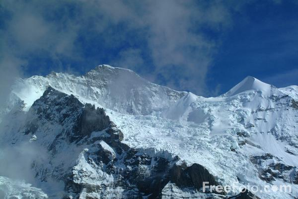 Picture of Mountain Views from Kleine Scheidegg, Berner Oberland, Switzerland - Free Pictures - FreeFoto.com