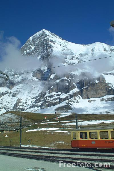 Picture of Eiger from Kleine Scheidegg, Berner Oberland, Switzerland - Free Pictures - FreeFoto.com