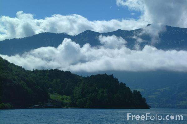 Picture of Lake Thun, Berner Oberland, Switzerland - Thunersee,  Bernese Oberland, Die Schweiz - Free Pictures - FreeFoto.com