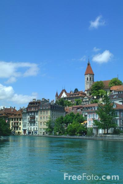 Picture of River Aare, Thun, Berner Oberland, Switzerland - Free Pictures - FreeFoto.com